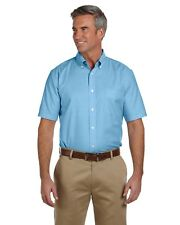 NEW Harriton Dress Shirt Men's Short Sleeve Oxford with Stain-Release M600S
