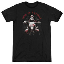 Sons Of Anarchy Ride On Mens Adult Heather Ringer Shirt Black