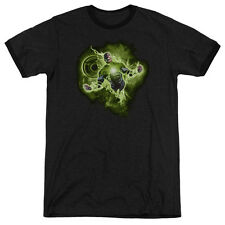 Green Lantern Lantern Nebula Mens Adult Heather Ringer Shirt Black Sm