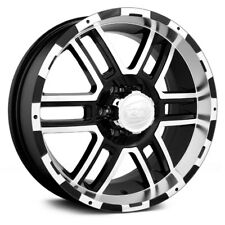 17x8 ION ALLOY Wheels +10 | 6x139.7 | 108 179 Black w Machined Face & Lip