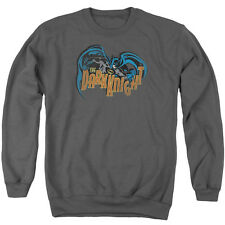 Batman Retro Dark Knight Mens Crewneck Sweatshirt Charcoal