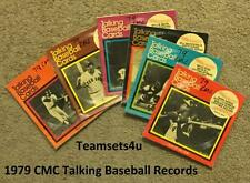 1979 CMC Talking Baseball Records Set ** Pick Your Team **