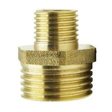 Brass Barbed Double Male End Straught Hose Tube Pipe Fitting Threaded Connector
