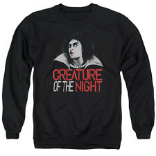 Rocky Horror Picture Show Creature Of The Night Mens Crew Neck SweaT Shirt Black