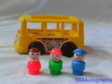 RARE 1988 PAMPERS PROMOTIONAL VINTAGE FISHER PRICE LITTLE PEOPLE MINI BUS #141
