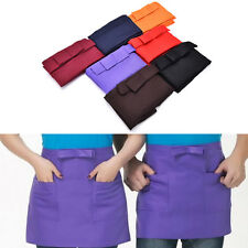 Kitchen Cotton Bow Short Half Waist Apron Bar Pub Cafe Server Waiter WaitressBBU