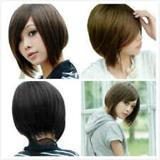 Men/Women Fashion Short Straight Wigs Costume Cosplay Party Anime Full Wig+Gift