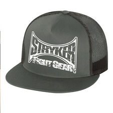 Stryker Fight Gear Mesh Trucker Snap-Back Hat MMA UFC Cap W Free Tapout Sticker