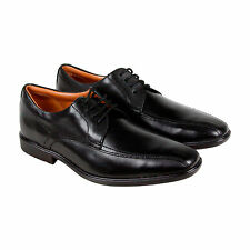 Clarks Gosworth Over Mens Black Leather Casual Dress Lace Up Oxfords Shoes