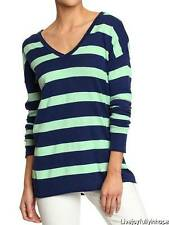 OLD NAVY ~ NWT NEW Size XS ~ SPRING! Soft Mint & Navy STRIPE Lightweight Sweater