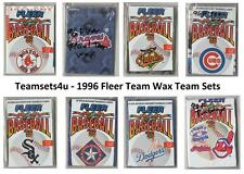 1996 Fleer Team Wax Lettering Baseball Team Sets ** Pick Your Team Set **