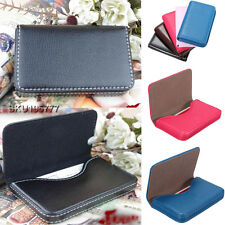 Pocket Leather Business Credit ID Card Holder Wallet Storage Pocket Case Clip
