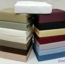Queen Sateen Weave Egyptian Cotton Solid Sheet Set 1000 Thread Count