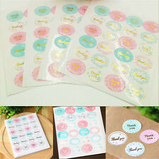 """5 sheets 120Pcs Oval """"Thank You"""" Adhesive Seal Sticker Label Envelope Decor FT"""