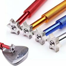 New Portable Golf Groove Club Edge Iron Wedge Sharpener Cleaner Cleaning Tool