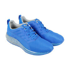 Puma Flare Stripes Mens Blue Nylon Athletic Lace Up Running Shoes