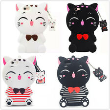 3D Cartoon Cute Cat Soft Silicon Case Cover Skin For iPhone/Samsung/Huawei/Oppo