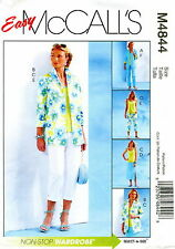 McCalls M4844 Misses Shirt-Jacket Top Skirt Pants Sewing Pattern~ Size 6 8 10 12