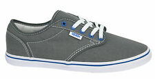 Vans Atwood Low Canvas Lace Up Grey Blue Womens Trainers Plimsolls NJO5RO Vans C