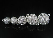 NEW Crystal Rhinestone Strong Magnetic Connector Clasp For Bracelet Necklace