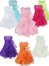Baby Kids Girls Toddler Princess Party Floral Pageant Wedding Bridesmaid Dress