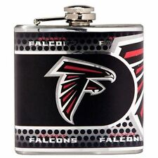 Stainless Steel 6 oz. Flask with Metallic Graphics Atlanta Falcons - 44520
