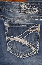 Authentic Silver AIKO TUESDAY Low Rise Boot Cut Women's Blue Jeans 29X31 29x33