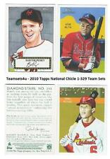 2010 Topps National Chicle w/ SP (1-329) Baseball Set ** Pick Your Team **