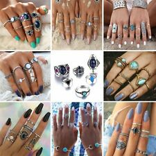 New Boho Vintage Silver/Gold Midi Above Knuckle Finger Rings Set Jewellery Gifts
