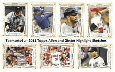 2011 Topps Allen and Ginter Highlight Sketches Baseball Set ** Pick Your Team **