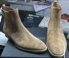 Retro Mens High Top Chelsea Ankle Boots Suede Leather Chukka Vintage Shoes
