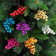 Christmas Xmas Fruit Ear Leaves Party Tree Holiday Decoration Ornament 6 Color