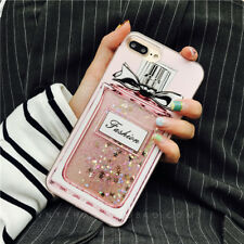 Cute Pink Bling Glitter Perfume Bottle Hard Case Cover for iPhone 7 7 Plus 6 6S