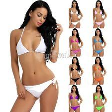 Swimwear Women Triangle Bikini Set Push-Up Swimsuit Bathing Beachwear Suit 2PCS