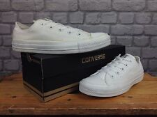 CONVERSE UNISEX ALL STAR WHITE LO CANVAS TRAINERS VARIOUS SIZES VERY DISCOLOURED