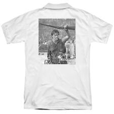 Army Of Darkness Boom (Back Print) Mens Polo Shirt WHITE