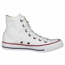 Converse Chuck Taylor All Star Hi White Casino Red Womens Canvas Hi-Top Trainers
