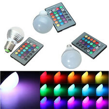 E27 E14 GU10 3W RGB LED 16 Colors Changing Lamp Light Bulb IR Remote Control