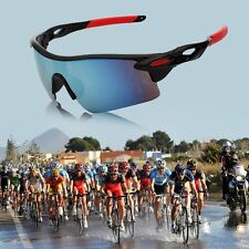 Men's Mirrored Lens Sunglasses Fishing Cycling Baseball Sport Wrap Multicolor