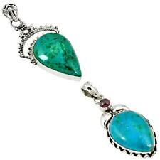 925 sterling silver chrysocolla pendant jewelry by jewelexi 1473B