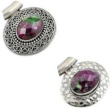 925 sterling silver ruby zoisite pendant jewelry by jewelexi 2250B