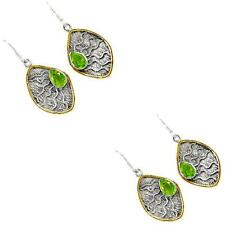 925 sterling silver peridot quartz earrings jewelry by jewelexi 2693B