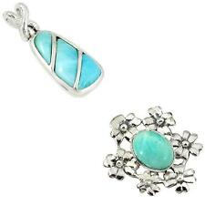 925 sterling silver larimar pendant jewelry by jewelexi 3509B