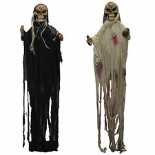 Haunted Halloween Horror Hanging Glowing Eyes Screaming Witch Ghoul Decoration