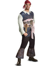 Mens Classic Pirates Of The Caribbean 5 Captain Jack Sparrow Costume