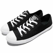 Converse Chuck Taylor All Star Dainty Black White Women Casual Shoes 558288C