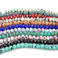 Wholesale 40pcs Faceted Rondelle Charms Glass Loose Spacer Beads DIY  8mm