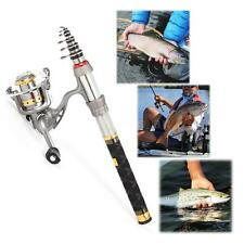 Fishing Rod and Spinning Reel Combo Portable Telescopic Fishing Rod & Reel G0O9