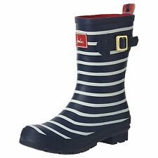 Joules Molly Welly French Navy Stripe Womens Rubber Mid-Calf Wellies Boots