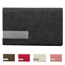 Unisex Office Work Faux Leather Business Name ID Credit Card Case Box Holder